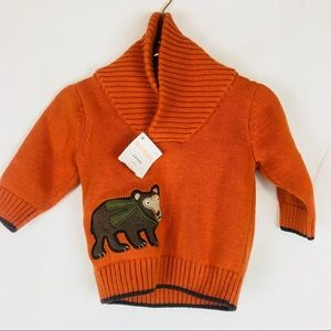 GYMBOREE ANIMAL PARTY BROWN FISHERMAN/'S L//S SWEATER 5 6 7 8 10 12 NWT
